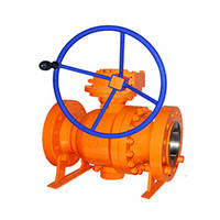 API 6D Cast Steel Trunnion Ball Valve