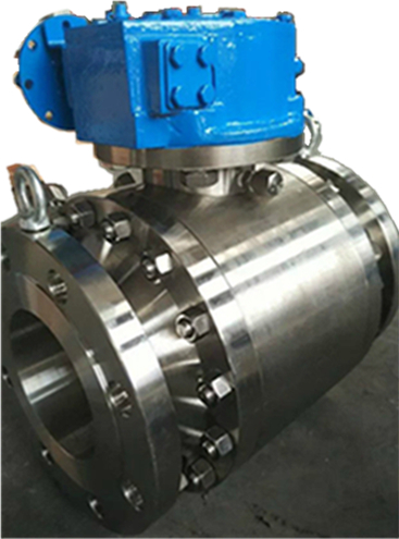 F304L Trunnion Ball Valve, Side Entry, Gear Operated