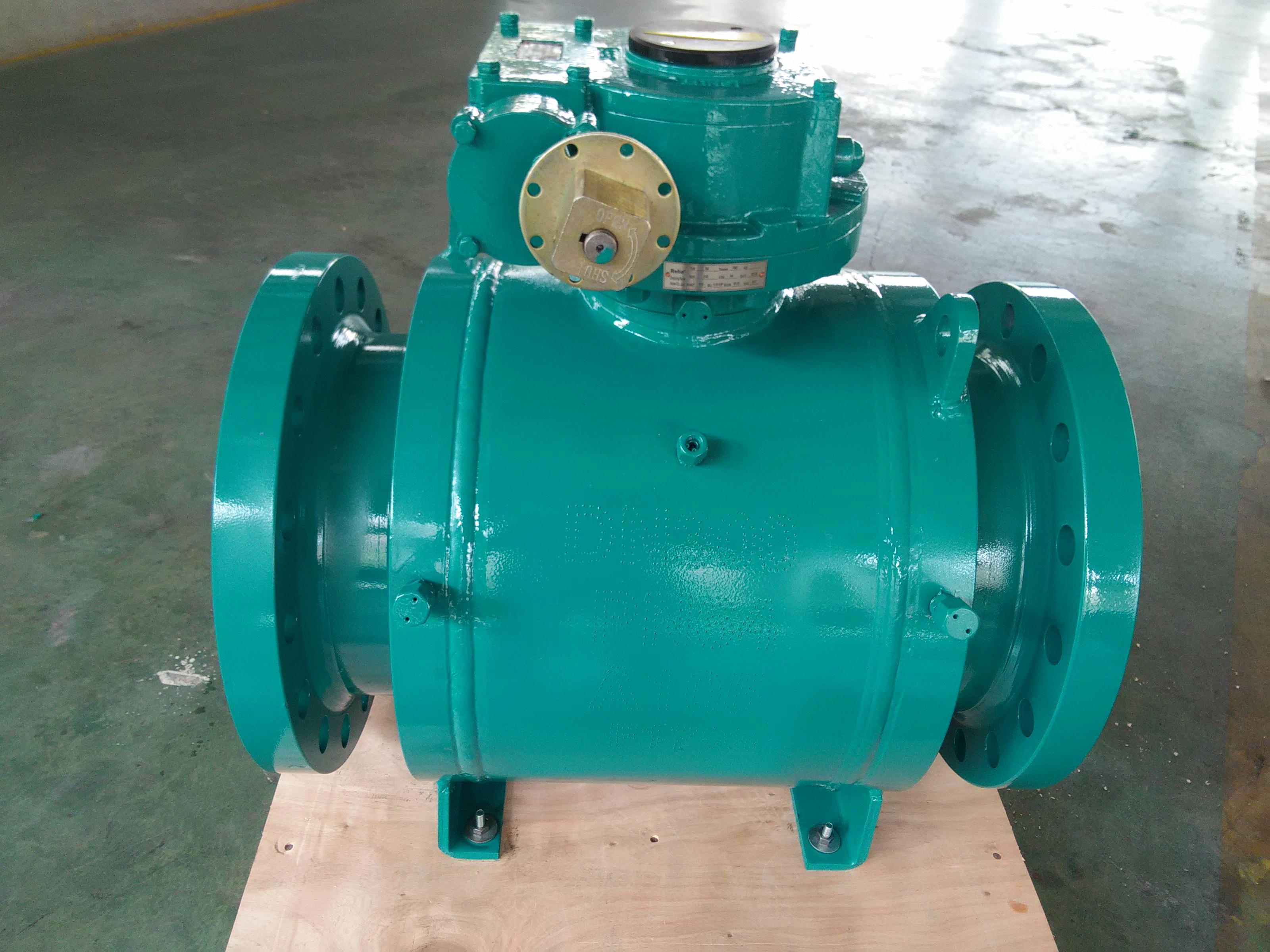 Fully Welded Trunnion Ball Valve, Full Bore, Worm Gear