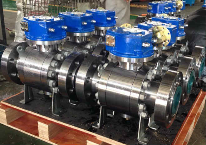 Trunnion Ball Valve, A182 F51, Flanged Ends