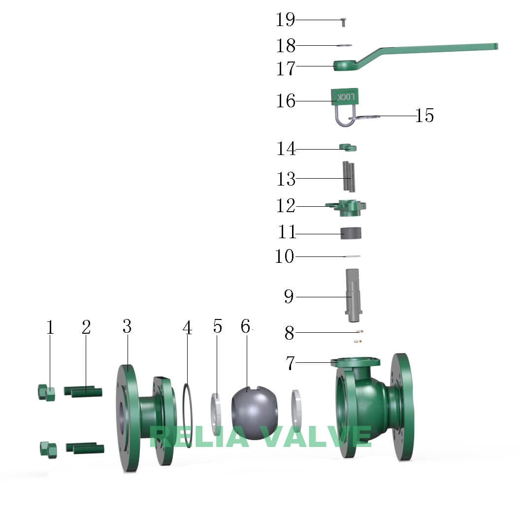 flanged floating ball valve drawing from floating ball valve manufacturers