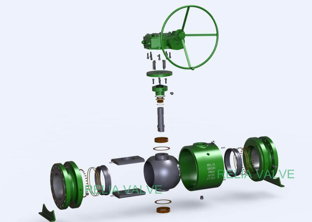 Fully Welded Ball Valve Explosive Drawing