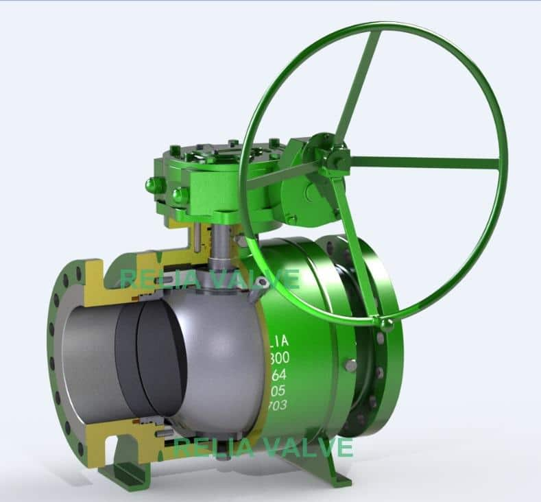 Fully Welded Ball Valve Drawing